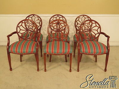 L39231E: Set Of 6 Spider Back Federal Dining Room Chairs