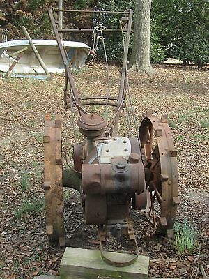 ANTIQUE VINTAGE Sears Roebuck Cultivator High Metal Wheel Farm/Garden Push Plow