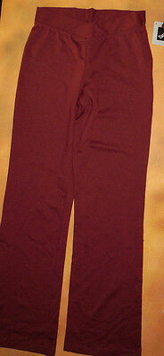 NWT Bloch Dance Mahongony V Front Jazz Pants Girls Small Child CP1608