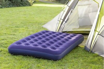 NEW Tesco Flocked Double Inflatable Air Bed