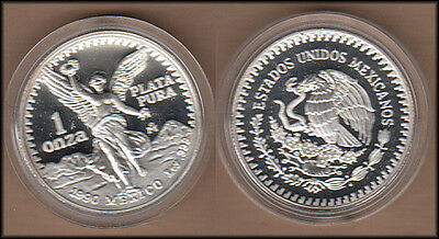 1990 Mexico One Ounce Proof Silver Libertad