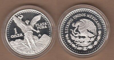 1986 Mexico One Ounce PROOF SILVER Libertad