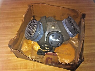 Vintage Comflo Respirator in original box w/filters part number 86430