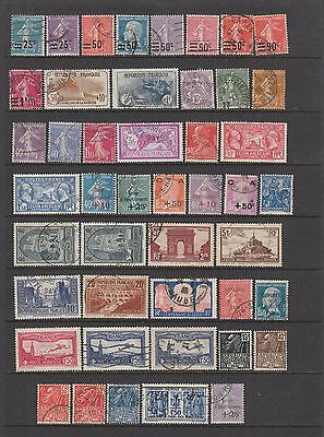 France 1926 - 1931 fine used collection , 46 stamps