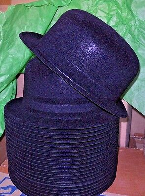 NEW/box 2 DOZEN Dance COSTUME Plastic Beistle Black Velour Derby 66999 Hats