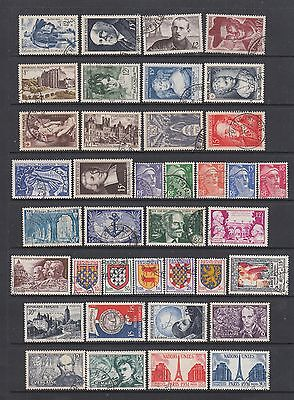 France 1950 - 1954 fine used collection, 102 stamps