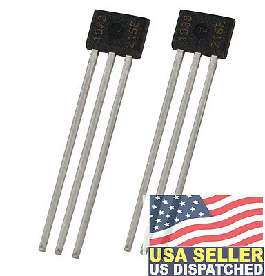 Allegro Microsystems A1302KUA-T (Pack of 2) 5 Volt 10 mA Hall Effect Sensor