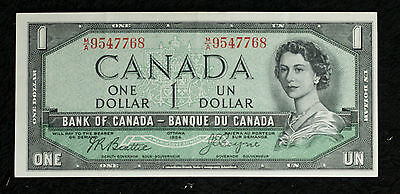 1954 $1 Devils Face One Dollar Bank of Canada Note - Nice XF Note!!