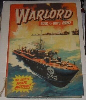 Warlord Book for Boys. 1981. the best of war action