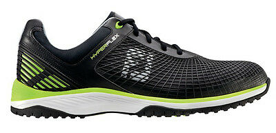 FootJoy HyperFlex Spikeless Golf/Fitness Training Shoes Black/Lime 9.5 Medium
