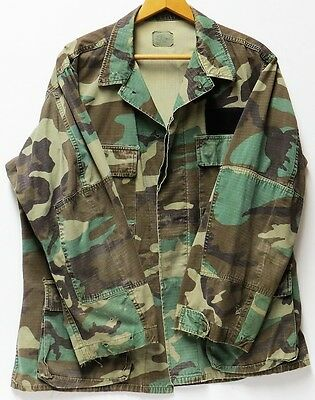 U.S. Military Hot Weather Woodland Camo Combat Coat - Size: Medium-Regular