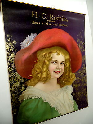 Early Hc. Roenitz Shoes Advertising Litho Oshkosh Wisconsin Wis Wi, Pretty Girl