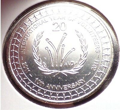 Australia 20 Cents 2011, XF+ Coin, Year of Volunteers Commemorative, KM 1634
