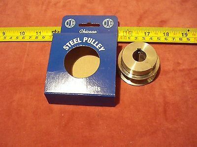 "(1753.) Steel Pulley 2"" Dia. x 5/8"" Bore Vee Belt A or B"