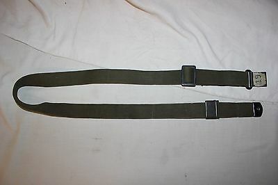 US Military Issue M1 Garand Rifle Sling Green Canvas Web Sling MRT Vintage NOA9