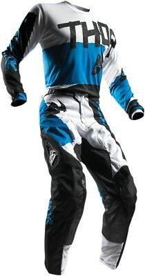 Thor 2910-4244 Motocross Riding Gear S7S Pulse Taper Jersey Md Blue/White