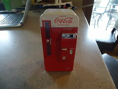 Coca Cola Die Cast 1994 Metal Collectible Musical Bank Vending Machine Coke Nice