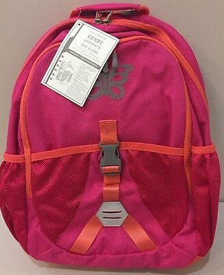 NWT Pottery Barn Kids AVERY HOT PINK Backpack with BUTTERFLY PATCH