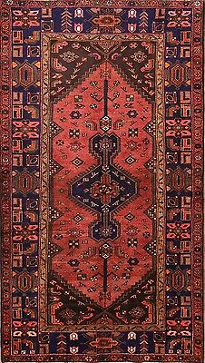 Excellent Geometric Tribal Hand Knotted 5x8 Hamadan Persian Oriental Area Rug