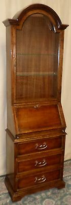 HERITAGE FRENCH STYLE SECRETARY Grand Tour Ladies Desk Lighted Cabinet VINTAGE