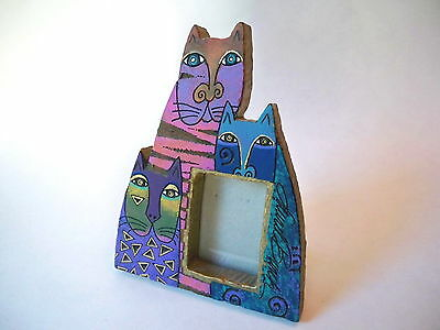 LAUREL BURCH Mysticats Cat Tabletop Hanging Picture Frame