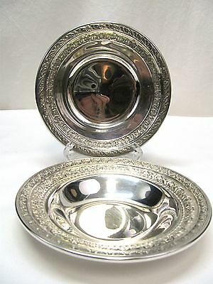 Pair of Wallace SilverPlate Candy Bon Bon Dishes 5100 & N4231 (112)