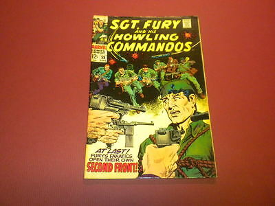 SGT. FURY AND HIS HOWLING COMMANDOS #58 Marvel Comics 1968 Nick Fury WAR