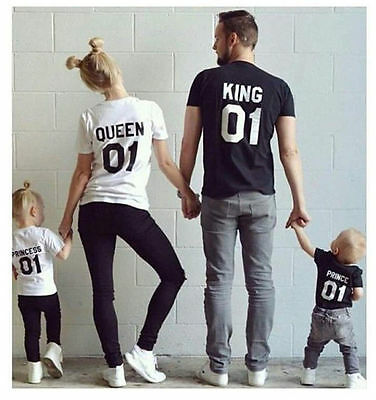 NEW Couple T-Shirt King&Queen&Princess&Prince sweet family Family Love t-shirt