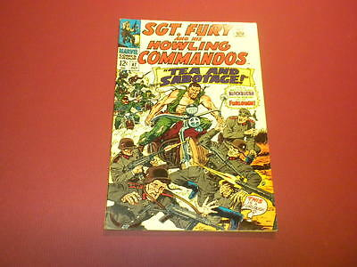 SGT. FURY AND HIS HOWLING COMMANDOS #47 Marvel Comics 1967 Nick Fury WAR