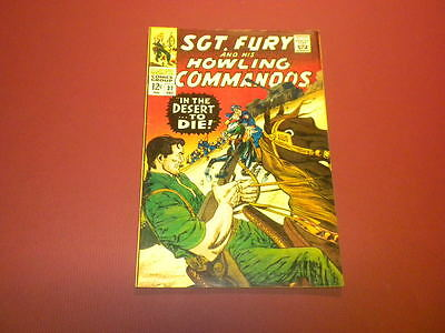 SGT. FURY AND HIS HOWLING COMMANDOS #37 Marvel Comics 1966 Nick Fury WAR