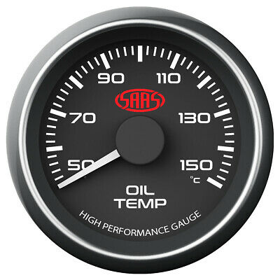 Saas Performance Trans Oil Temp 52Mm Analog Gauge Black Face 4 Colour Lighting