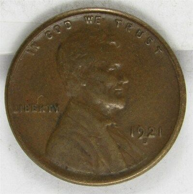1921-S Lincoln Wheat Cent 1c Penny - XF - Extremely Fine
