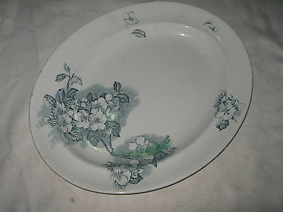 An Antique J C & Sons (George Jones) 1910's Colony Pattern Ceramic Meat Platter