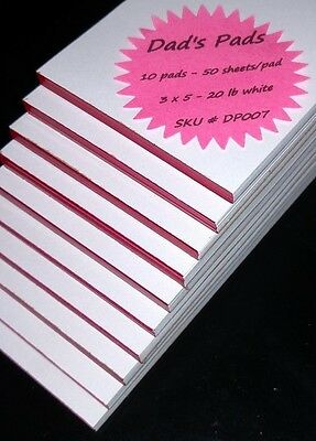 Dad's Pads - 3 x 5 - DP007 - 10 pads / 50 sheets per pad - memo / scratch / note