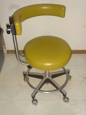 Dentsply dental chair office mid century 1970s working See pics, good shape