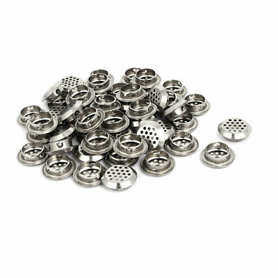 Household Stainless Steel Round Shaped Mesh Hole Air Vents Louver 25mm Dia 50pcs