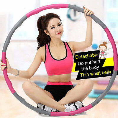 Soft hula hoop Professional Fitness Weighted Magnetic Workout removable ✔2017