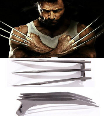 US SHIP 2PCS X-Men Wolverine Newest Movie Props Logan Blade Cosplay Claw Paw