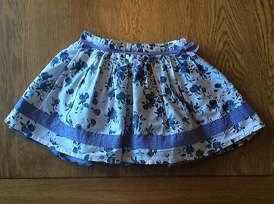 Monsoon Girls Floral Lined Cotton Skirt - Size 18-24 Months