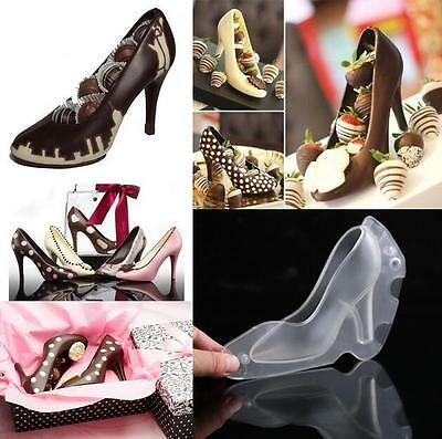 AU 3D High Heel Shoes Chocolate Decorating Candy Mould Cake Jelly Ice Mold