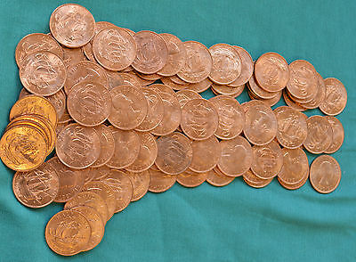 100 x Half Penny Ha'pennies BRAND NEW(!) 1967 date 50 yrs old from sealed bag!