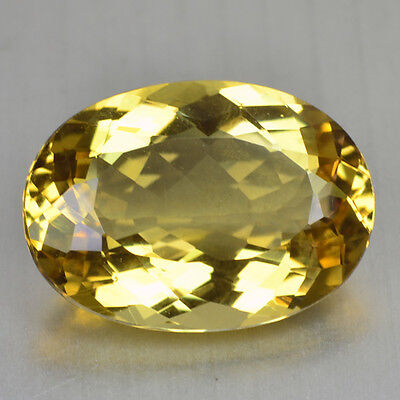 13.02 Cts FANCY QUALITY GOLDEN YELLOW COLOR NATURAL HELIDOR BERYL GEMSTONES