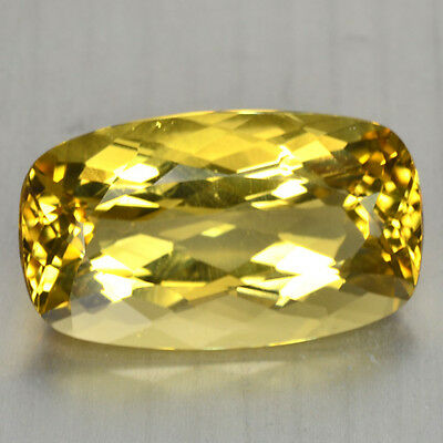 11.65 Cts FANCY QUALITY GOLDEN YELLOW COLOR NATURAL HELIDOR BERYL GEMSTONES