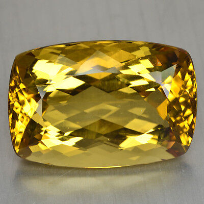50.47 Cts FANCY QUALITY GOLDEN YELLOW COLOR NATURAL HELIDOR BERYL GEMSTONES