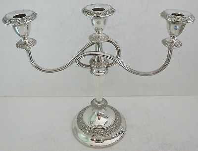Antique Silver Plate Ianthe Candlesticks Candle Holder Candelabra England Rare