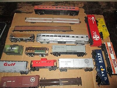 Box Lot Ho Scale Freight & Passenger Cars For Parts And Restoration