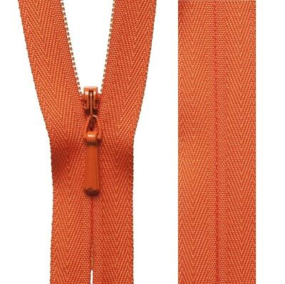 20cm23cm41cm56cm Kingfisher YKK Concealed Zip Invisible Zip Closed End