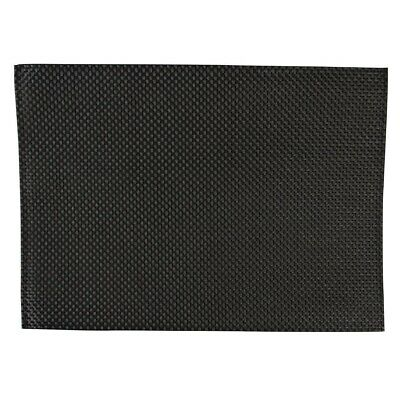 APS (Pack of 6) PVC Black Placemat BARGAIN