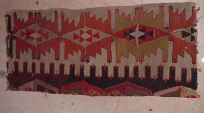 Antique native American Indian Rug or Tapestry / Rough but Authentic