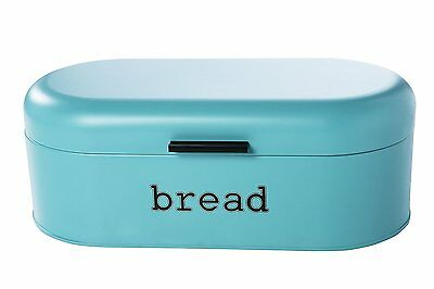 Large Teal Bread Box for Kitchen Countertop - Bread Bin Storage Container with -